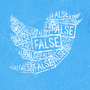 Twitter bird filled with false news tags