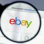 Magnifying glass views ebay logo on their login page