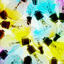 multicolored lightbulbs to symbolize entrepreneurship