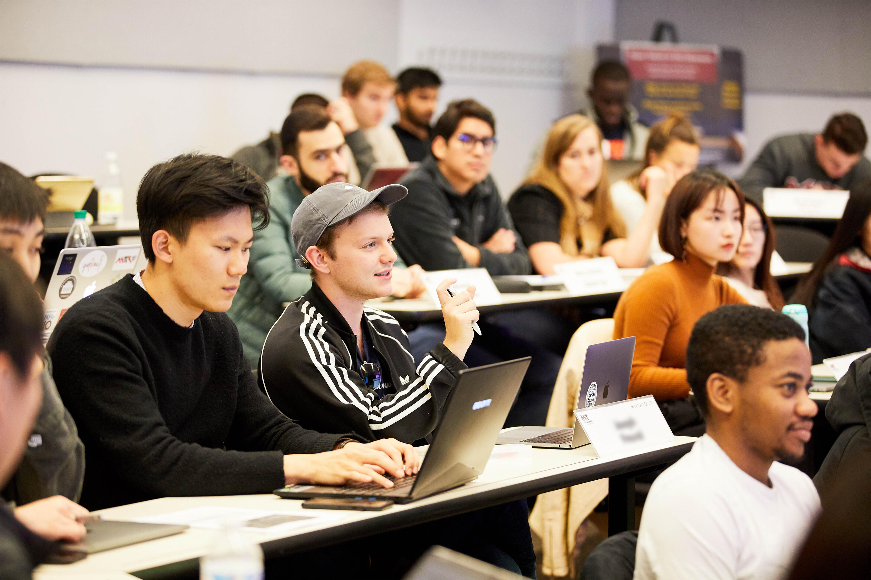 MIT Sloan finance students in classroom